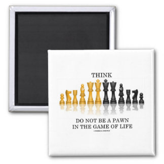 Think (Chess) Do Not Be A Pawn In The Game Of Life Fridge Magnets