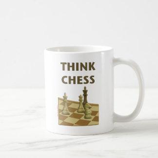Think Chess Classic White Coffee Mug