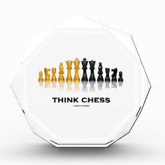 Think Chess Reflective Chess Set Chess Advice Award