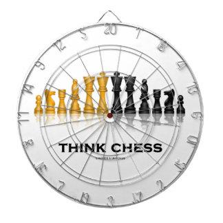 Think Chess Reflective Chess Set Chess Advice Dart Board