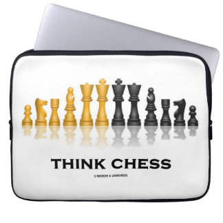 Think Chess Reflective Chess Set Chess Advice Laptop Sleeve