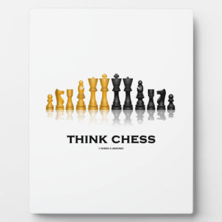 Think Chess Reflective Chess Set Chess Advice Plaque