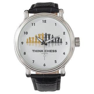 Think Chess Reflective Chess Set Chess Advice Wristwatch