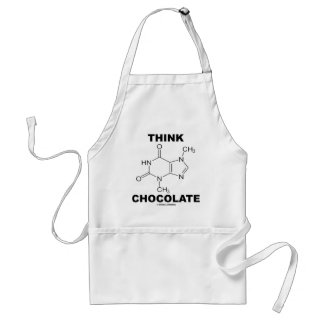Think Chocolate (Theobromine Molecule Chemistry) Adult Apron