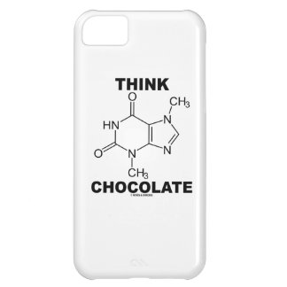 Think Chocolate (Theobromine Molecule Chemistry) Cover For iPhone 5C