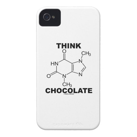 Think Chocolate (Theobromine Molecule Chemistry) iPhone 4 Cover