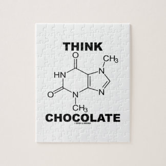 Think Chocolate (Theobromine Molecule Chemistry) Jigsaw Puzzle