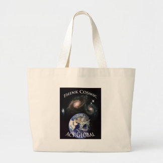 think cosmic act global jumbo tote bag