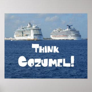 Think Cozumel! Poster