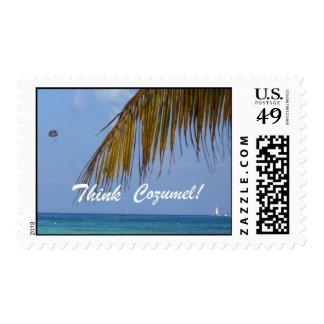 Think Cozumel! Stamp