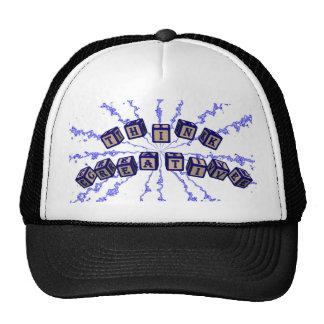 Think Creative toy blocks in blue. Trucker Hat