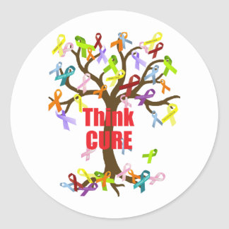 Think CURE (2).png Classic Round Sticker