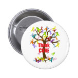Think CURE (2).png Pinback Buttons