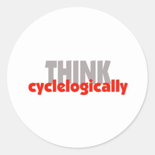 THINK cyclelogically! Round Sticker