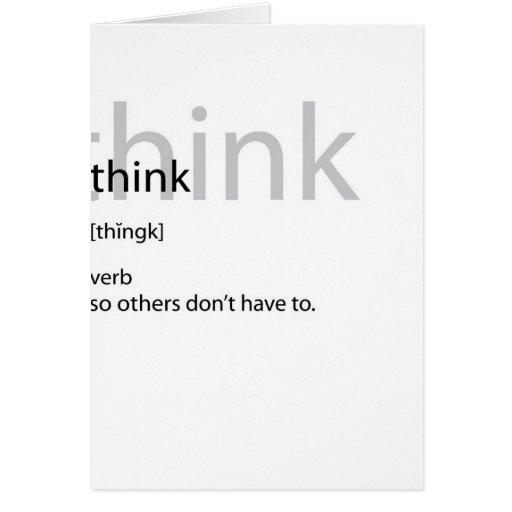 Think definition card