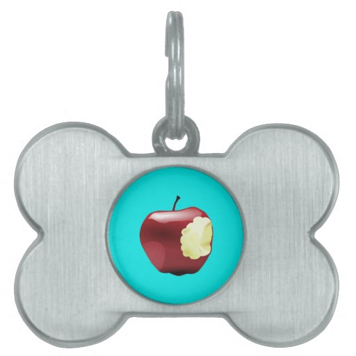 Think Different Apple bitten Pet Name Tag
