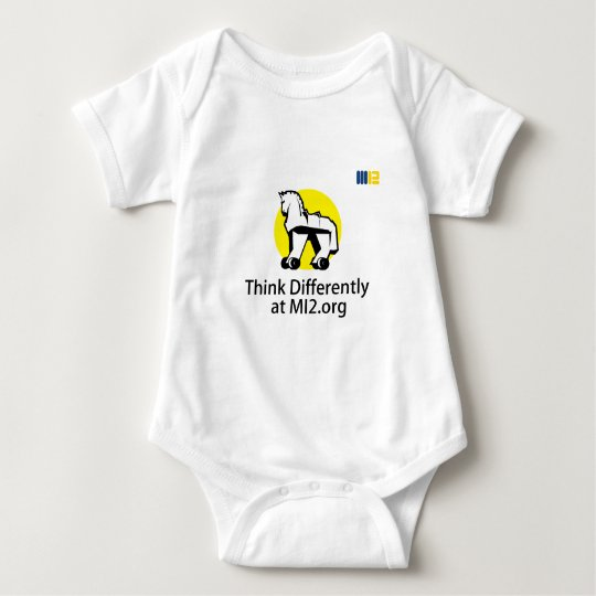Think Differently - Horse on Wheels Gift Baby Bodysuit