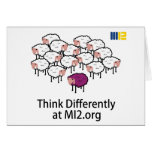Think Differently - Purple Sheep Greeting Card