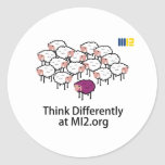 Think Differently - Purple Sheep Sticker