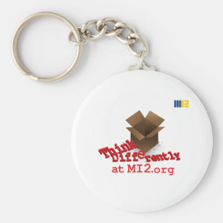 Think Differently - Right Outside The Box Keychain