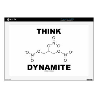"Think Dynamite (Chemical Nitroglycerin Molecule) 17"" Laptop Decal"