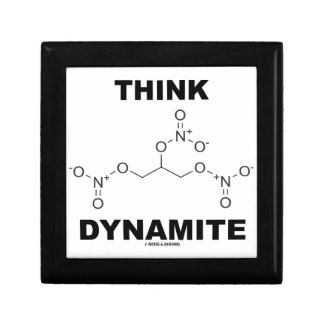 Think Dynamite (Chemical Nitroglycerin Molecule) Keepsake Boxes