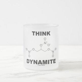 Think Dynamite (Chemical Nitroglycerin Molecule) Mug