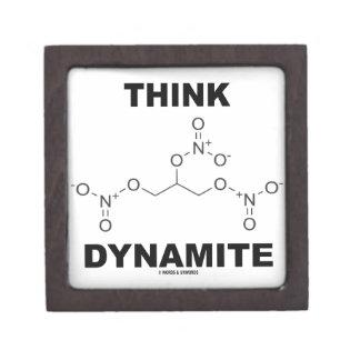 Think Dynamite (Chemical Nitroglycerin Molecule) Premium Trinket Box