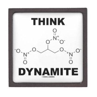 Think Dynamite (Chemical Nitroglycerin Molecule) Premium Jewelry Boxes