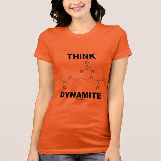 Think Dynamite (Chemical Nitroglycerin Molecule) T-Shirt