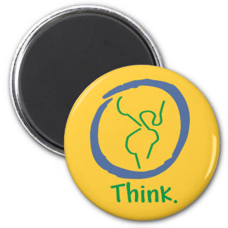 Think Earth refrigerator magnet