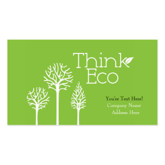 Think Eco Business Cards