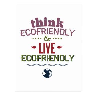 Think Ecofriendly And Live Ecofriendly Postcard