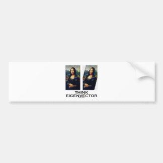 Think Eigenvector (Mona Lisa Restored) Car Bumper Sticker