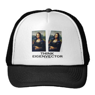 Think Eigenvector (Mona Lisa Restored) Trucker Hat