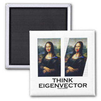 Think Eigenvector (Mona Lisa Restored) Fridge Magnet