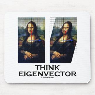 Think Eigenvector (Mona Lisa Restored) Mouse Pad