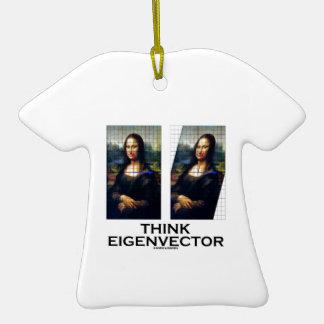 Think Eigenvector (Mona Lisa Restored) Double-Sided T-Shirt Ceramic Christmas Ornament