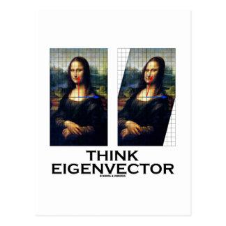 Think Eigenvector (Mona Lisa Restored) Postcard