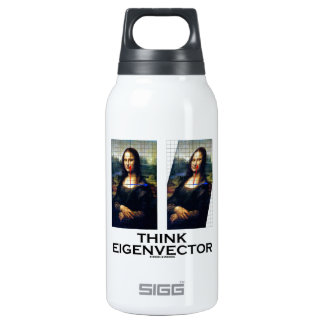 Think Eigenvector (Mona Lisa Restored) 10 Oz Insulated SIGG Thermos Water Bottle