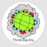 Think Electric Sticker Stickers
