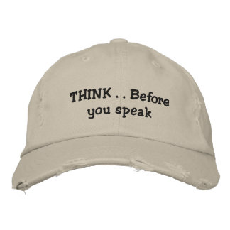 Think Embroidered Baseball Cap