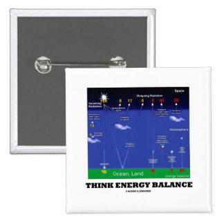 Think Energy Balance (Atmosphere Ocean Land) Pinback Button