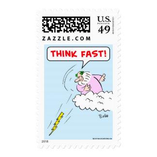 think fast lightning stamp