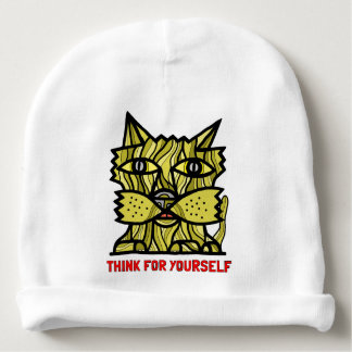 """""""Think For Yourself"""" Baby Cotton Beanie"""