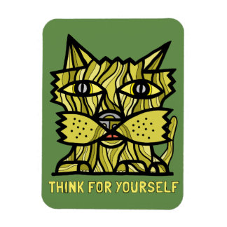 """Think For Yourself"" Magnet"