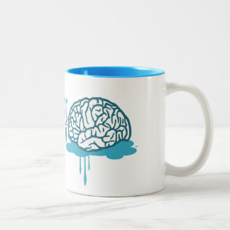 think for yourself taza de café de dos colores
