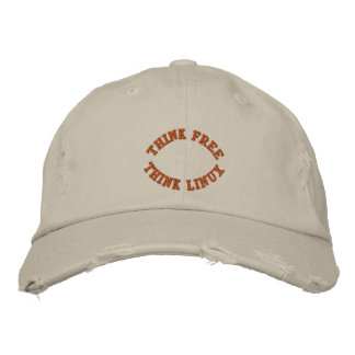 Think Free, Think Linux Embroidered Baseball Hat