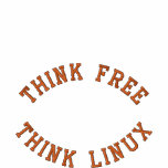 Think Free, Think Linux Embroidered Polo Shirt