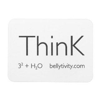 ThinK fridge magnet from bellytivity